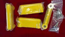 Vintage CON&CON 4x Schaubladengriffe Gelb Möbelgriffe Schrankgriffe Retro 70er