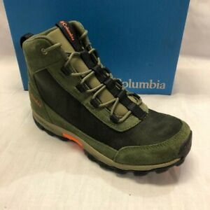 Columbia Unisex-Child Youth Big Kids Flow Borough Mid Hiking Shoe Nori/Orange