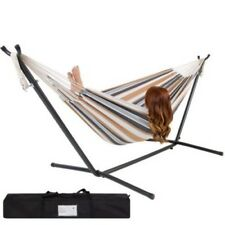 New listing Hammock Stand Hammock With Space Saving Steel Stand Include Carrying Case Tm32