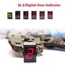 LED N-5 Speed Digital Gear Indicator for Motorcycle Shift Lever Gauge Well Made