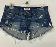 NWT One Teaspoon Bonitas Distressed Destroyed 24 Frayed Jean Shorts