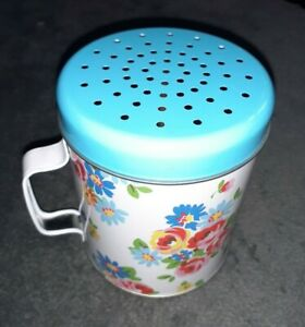 Cath Kidston Blue Floral Metal Flour Shaker