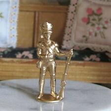 Vtg Dollhouse Mid Century GOLD SOLDIER STATUE Military Figurine Sculpture / Toy