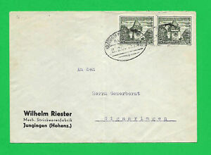 GERMANY 1941 cover to Sigmaringen-end of Petain-Laval in 1944-history-zug cancel