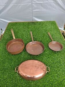 Vintage Copper Frying Pans