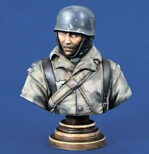 Verlinden 200mm (1/9) Fallschirmjager German Paratrooper WWII Bust Ardennes 1263