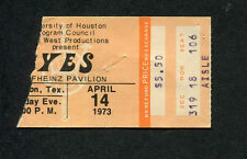 Original 1973 Yes Concert Ticket Stub Houston Tx Close To The Edge Tour