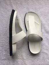 Alexander Wang White Leather Thong Sandal