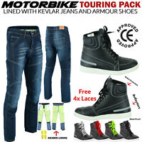 Motorbike Motorcycle Jeans Trouser MADE with KEVLAR Denim Pants CE Protection UK