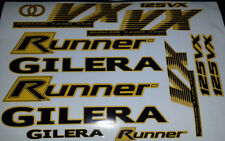 Gilera Runner VX 125 Sticker/Decal Set  *YELLOW & BLACK* 4 STROKE ST VXR