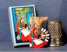 Dollhouse Miniature 1:12  Gypsy Fortune Teller Game and Poster  dollhouse gypsy