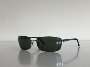 Ray Ban RB 3212 004/9A Aviator Gunmetal Gray Polarized Sunglasses 61-18 3P