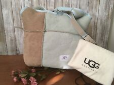 cea7c4e5ab7f Ugg Suede HandBag Tote Shearling W  Matching Attached Coin purse   Dust Bag  NEW