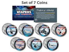 U.S. WEAPONS ARSENAL AIRCRAFT JFK Kennedy Half Dollars US 7-Coin Set