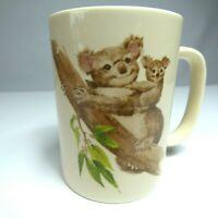 Otagiri Coffee Cup Mug Tea Koala Bears Gibson Greeting Cards Vintage Japan Flaw
