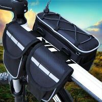 Bicycle Cycling Bike Frame Front Tube Pannier Saddle Bag Pouch Accessories 7137