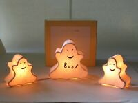 Pottery Barn Kids Halloween String of Lights 3 Ghost Shades 5 Watt Lightbulbs