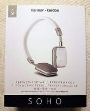New Sealed Harman Kardon SOHOi Premium Headphones w/ iOs Remote White Soho