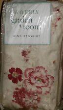 WAVERLY NEW VINTAGE ROSE GARDEN ROOM HEIRLOOM COLLECTION  King BEDSKIRT