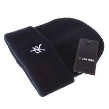 Zoo York-Herren Streetwear Bündchen Beanie Mütze-Logostickerei French Navy Blau