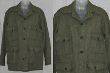 Vintage 70s 80s Woolrich Green Tweed Retro Cruiser Shirt Jacket Pockets Usa L