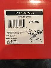 2000 Hallmark Peanuts Gallery Jolly Holidays Snoopy Figurine #QPC4023
