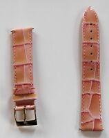 Neu hochwertiges Elysee Uhrenband Uhrenarmband Leder rosa lachsfarben 18mm E97