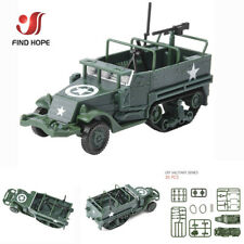 1:72 4D M3 Half-Track Armored Vehicle Assembly Model Toy Armored Carrier Car