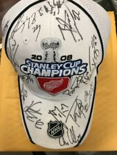 Detroit Red Wings 2008 Stanley Cup Champions Signed Hat JSA Authentication