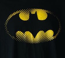 Batman Dot Matrix Logo Black S/S 100% Cotton T-Shirt M