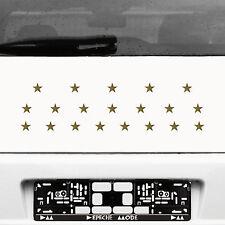 20 Aufkleber Tattoo Sterne 2,5cm gold Klebesterne Auto Fenster Tür Deko Folie