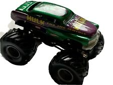 Hot Wheels The Incredible Hulk Monster Jam Truck 1:64 Green Purple Metal Base