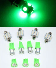 11PCS Green LED Light Interior Package Fit T10 & 31mm Map Dome License Plate Car