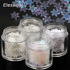 2g/box 7mm Nail Art 3D Shiny Christmas Snowflakes Stickers Glitter DIY Decors