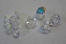 11 Clear Swarovski Crystal AB Beads 4mm & 6mm Bead For Beading, Jewellery TAR215