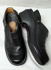 Ariat Black Leather Clog/Wedge Shoe-Back Strap-10-True to Size-EC-Leather Lined