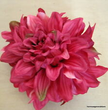 "4 1/2"" Cherry Red Dahlia Silk Flower Hair Clip,Wedding,Dance,Prom,Bridal,Party"