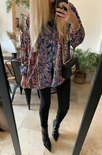 VINTAGE 90s PATTERNED MULTICOLOUR OVERSIZED SHIRT TOP 8 10 12