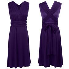 Women Infinity Convertible Multi Way Wrap Party Wedding Bridesmaid Short Dress