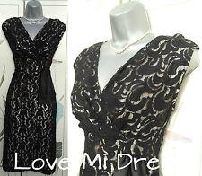 M&S 50's style Lace Pencil Wiggle Evening Dress Sz 10 EU38