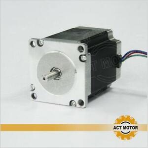 ACT 1PC Nema23 stepper 23HS8430 3A 76mm 1.9N.m/270oz-in φ6.35mm Schrittmotor CNC