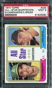 1974 Topps #335 All-Star SS Bert Campaneris/C.Speier PSA 9 Mint!
