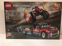 610pcs LEGO Technic 42106 Stunt Show Truck /& Bike Age 8