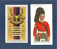 The SEAFORTH HIGHLANDERS The Ross-shire Buffs Cap Badge Sergeant Uniform 2 cards