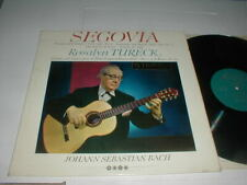 ANDRES SEGOVIA Rosalyn Tureck UK SAGA LP STEREO 1965 Baroque Classical Guitar
