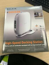 1 x NEW BELKIN HIGH-SPEED DOCKING STATION WITH AN EXPRESSCARD PORT