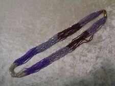Glasperlen Kette / Halskette / Collier - Lila / Violett - Handarbeit