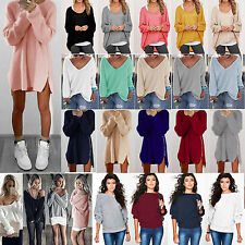 Womens Long Sleeves Baggy Sweater Dress Pullover Jumper ToP Loose Knitwear Shirt