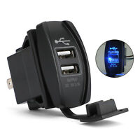 Dual USB Socket Charger for UTV Can Am Polaris RZR Ranger 900 1000 XP 750 BL T5