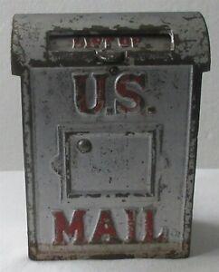 1875 Patent U.S. Mail Box Cast Iron Still Bank